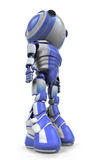 Blue and white robot Stock Images