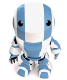 Blue and white robot man Royalty Free Stock Photos