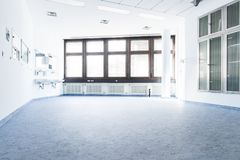Blue white room in a hospital Royalty Free Stock Image