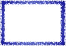 Blue White Rustic Snowflake Border Stock Photos