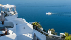 Blue and white Santorini Royalty Free Stock Photography
