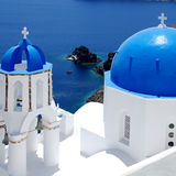 Blue and white, Santorini Royalty Free Stock Photography