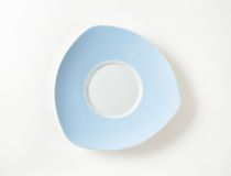 Blue and white saucer Royalty Free Stock Photos
