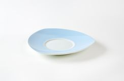 Blue and white saucer Stock Image