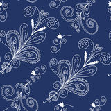 Blue and white seamless pattern Royalty Free Stock Images