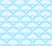 Blue and white seamless pattern Stock Image