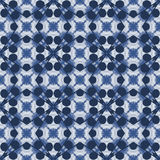 Blue and white seamless pattern. Royalty Free Stock Images