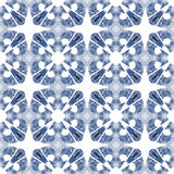 Blue and white seamless pattern. Royalty Free Stock Photography