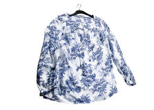 Blue and white shirt Stock Photography