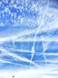 Blue white sky. Sunny day blue sky Stock Images