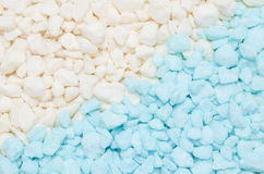 Blue and white small stone gravel texture background royalty free stock photography