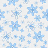 Blue and White Snowflake Fabric Background Royalty Free Stock Photo