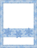 Blue and White Snowflake Frame Royalty Free Stock Images
