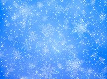 Blue and white snowflake pattern Royalty Free Stock Photo