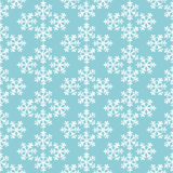 Blue and white snowflakes geometric christmas seamless pattern, vector Stock Images