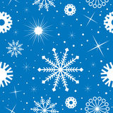 Blue and white snowflakes pattern Royalty Free Stock Photos