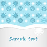 Blue and white snowflakes seamless pattern christmas postcard invitation Stock Photo