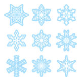 Blue and white vector snowflakes Royalty Free Stock Photography