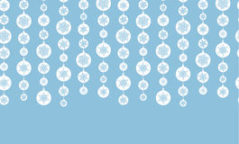 Blue and White Snowflakes Stripes Horizontal Royalty Free Stock Photo