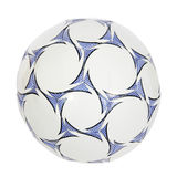 Blue and white soccer ball. (isolated) Royalty Free Stock Photo
