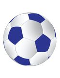 Blue and white soccerball Stock Photography