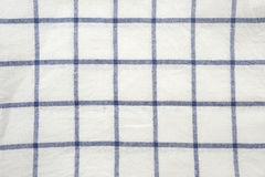 Blue and white square tablecloth background Royalty Free Stock Photography