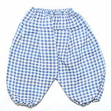 Blue and white squares pattern baby pants Stock Photography