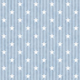 Blue and White Stars and Stripes Fabric Background Royalty Free Stock Photo