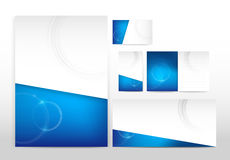 Blue and white stationery Stock Photography