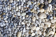 Blue and white stone, gravel, texture background Royalty Free Stock Images