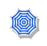 Blue and white striped beach umbrella Royalty Free Stock Photos