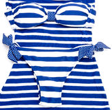Blue-white striped bikini Stock Image