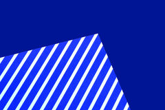 Blue and white striped paper Stock Image