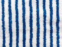 Blue and white striped towel Royalty Free Stock Images
