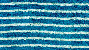 Blue and white striped towel Royalty Free Stock Photos
