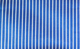 Blue And White Stripes Fabric Closeup Stock Photo