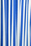 Blue and white strips curtain Royalty Free Stock Image