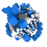 Blue and white structure Stock Images
