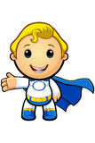 Blue And White Super Boy - Presenting Royalty Free Stock Photography