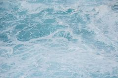 Blue white ocean surf swirling water ideal as aquatic background Royalty Free Stock Photos