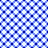 Blue and white tablecloth Royalty Free Stock Image