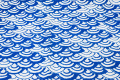 Blue and white tablecloth Stock Photos