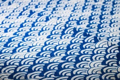 Blue and white tablecloth Royalty Free Stock Images