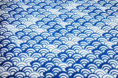 Blue and white tablecloth Royalty Free Stock Photography