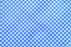 Blue and white tablecloth background. Stock Photography