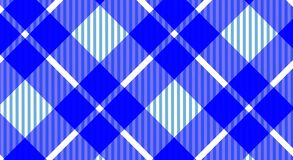 Blue and white tablecloth gingham checkered background.Texture f. Or:plaid,tablecloths,clothes, shirts,dresses,bedding,blankets.eps-10 Vector Illustration stock illustration