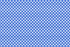 Blue and white tablecloth pattern, Texture from rhombus/squares for - plaid, tablecloths, clothes, shirts, dresses, paper, vector illustration