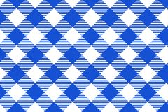 Blue and white tablecloth pattern, Texture from rhombus/squares for - plaid, tablecloths, clothes, shirts, dresses, paper,. Blankets and other textile products vector illustration