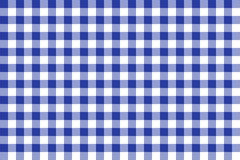 Blue and white tablecloth square texture wallpaper Royalty Free Stock Images