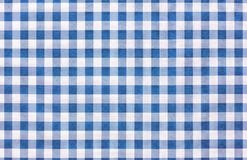 Blue and white tablecloth texture wallpaper Stock Photo